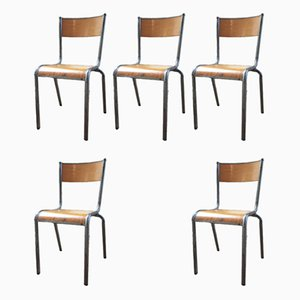 Dining Chairs, 1950s, Set of 7