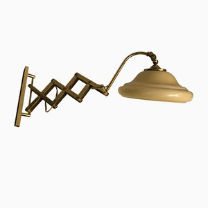 Wandlampe aus Opalglas, 1960er