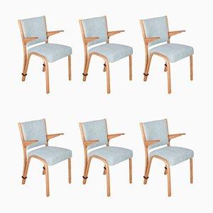 Französische Esszimmerstühle aus Eiche von Hugues Steiner für Steiner, 1960er, 6er Set
