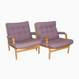 Mid-Century Ingrid Lounge Chairs from Bruno Mathsson, Set of 2