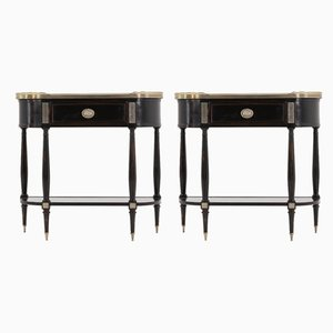 Mid-Century French Console Tables, Set of 2
