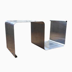 Zigzag Stainless Steel Shelf by Joëlle Ferlande et François Monnet, 1970s