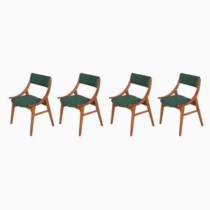 Polnische Ski Jumper Stühle von Zamojska Furniture Factory, 1970er, 4er Set