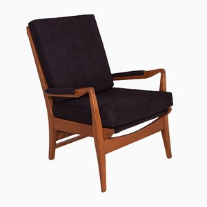 Black Armchair by Samuel Parker for Parker Knoll, 1960s