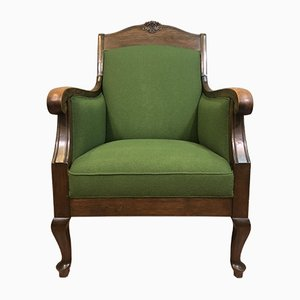 Antique Jugendstil Green Lounge Chair