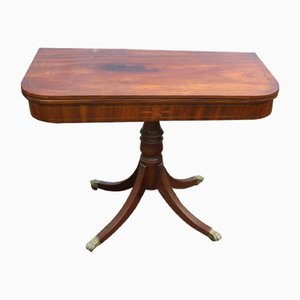 Table Basse Victorienne Ancienne en Acajou, années 1890