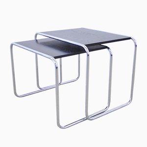 Tables d'Appoint par Marcel Breuer pour Thonet, années 70, Set de 2