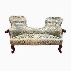 Silbernes antikes Sofa