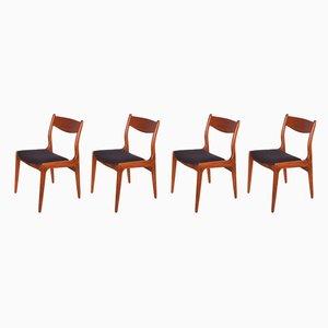 Esszimmerstühle aus Teak, 1960er, 4er Set