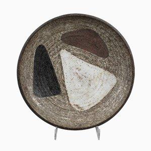 Keramikteller von Meindert Zaalberg für Zaalberg Pottery, 1950er