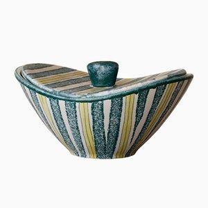 Dose aus Keramik mit Deckel von Ursula Fesca für Waechtersbach, 1950er