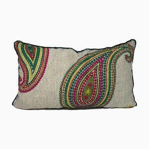 Cuscino Paisley verde di Katrin Herden per Sohil Design