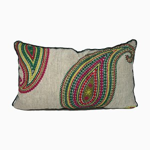 Paisley Green Pillow by Katrin Herden for Sohil Design