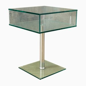 Mesa auxiliar de vidrio de Pefa, años 70