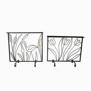 Wrought Iron Room Dividers, 1940s, Set of 2