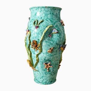 Italienische Keramikvase von Vietri Scotto, 1950er