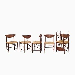 Chaises de Salle à Manger Modèle 316 Mid-Century par Peter Hvidt & Orla Mølgaard-Nielsen pour Søborg Møbelfabrik, Set de 6