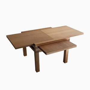 Oak Coffee Table by Bernard Vuarnesson for Belato, 1980s