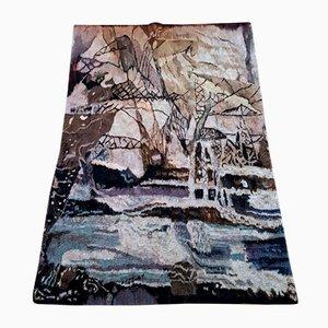 Handgewebter Wollteppich von Barbara Argasinska für Artes Gdanks, 1970er