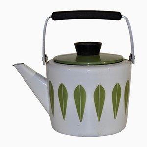 Emaille Teekanne aus Metall Cathrineholm, 1960er