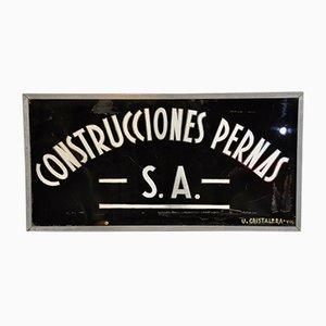 Insegna Constructions Pernas di Unión Cristalera Vigo, anni '60