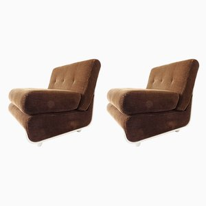 Italian Lounge Chairs, 1960s, Set of 2