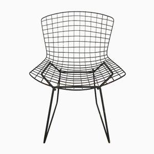 Chaise de Salle à Manger Noire par Harry Bertoia pour Knoll Inc. / Knoll International, années 70