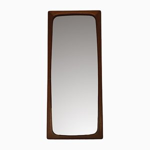 Vintage Danish Teak Mirror, 1960s