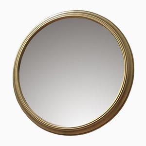 Small Round Brass-Framed Mirror, 1960s