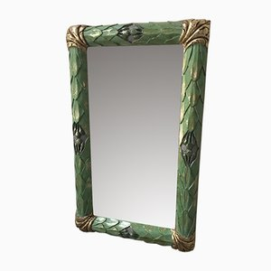 Small Antique Wood-Framed Mirror