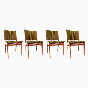 Vintage Danish Dining Chairs, 1950s, Set of 4