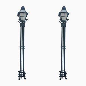 Lámparas de calle, años 20. Juego de 2