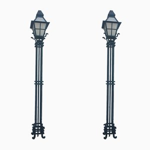 Street Lamps, 1920s, Set of 2
