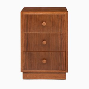 Walnut Nightstand by Gordon Russell for Heals, 1940s