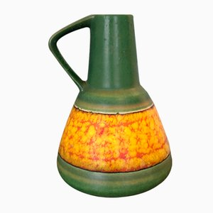 West German Green and Yellow Vase from Dümler & Breiden, 1950s