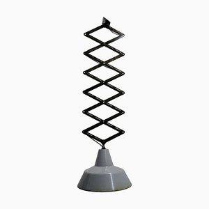 Gray Enamel Scissor Ceiling Lamp, 1950s