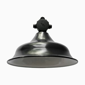 Black Enamel and Bakelite Ceiling Lamp, 1950s