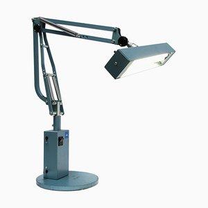 Lampada da tavolo in metallo tubolare blu, anni '50