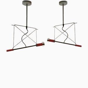 Deckenlampen von Herman Hermsen für Designum, 1980er, 2er Set
