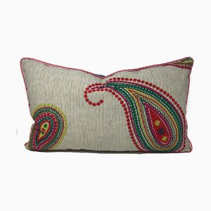 Paisley Red Pillow by Katrin Herden for Sohil Design