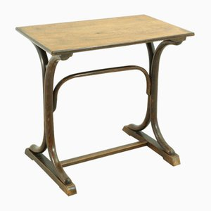 Petite Table d'Appoint Vintage en Hêtre et Contreplaqué