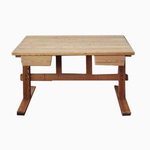 Scandinavian Modern Pine Desk, 1970s