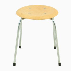 Mid-Century Beech Veneer Stool by Egon Eiermann for Wilde+Spieth