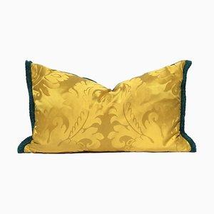 Gelbes venezianisches Kissen aus Seidendamast von Katrin Herden für Sohil Design