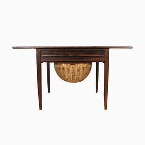 Rosewood Sewing Table by Johannes Andersen for CFC Silkeborg, 1960s