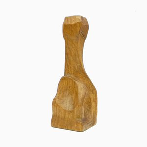 Anthroposophical Limewood Candleholder, 1920s
