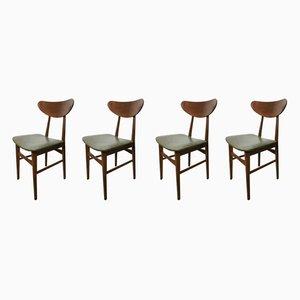 Esszimmerstühle, 1950er, 4er Set