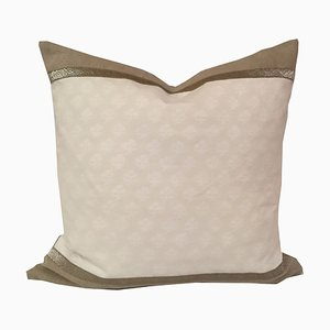Fortuny Persiano White Pillow by Katrin Herden for Sohil Design