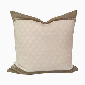 Weißes Fortuny Persiano Kissen von Katrin Herden für Sohil Design