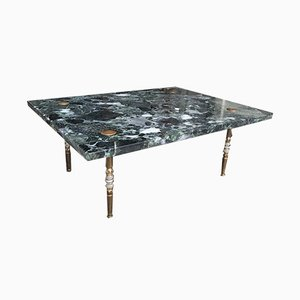 Green Marble Coffee Table, 1950s